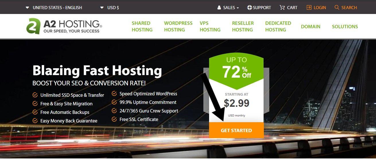 شرح شراء استضافة إيه تو هوستنج A2 Hosting